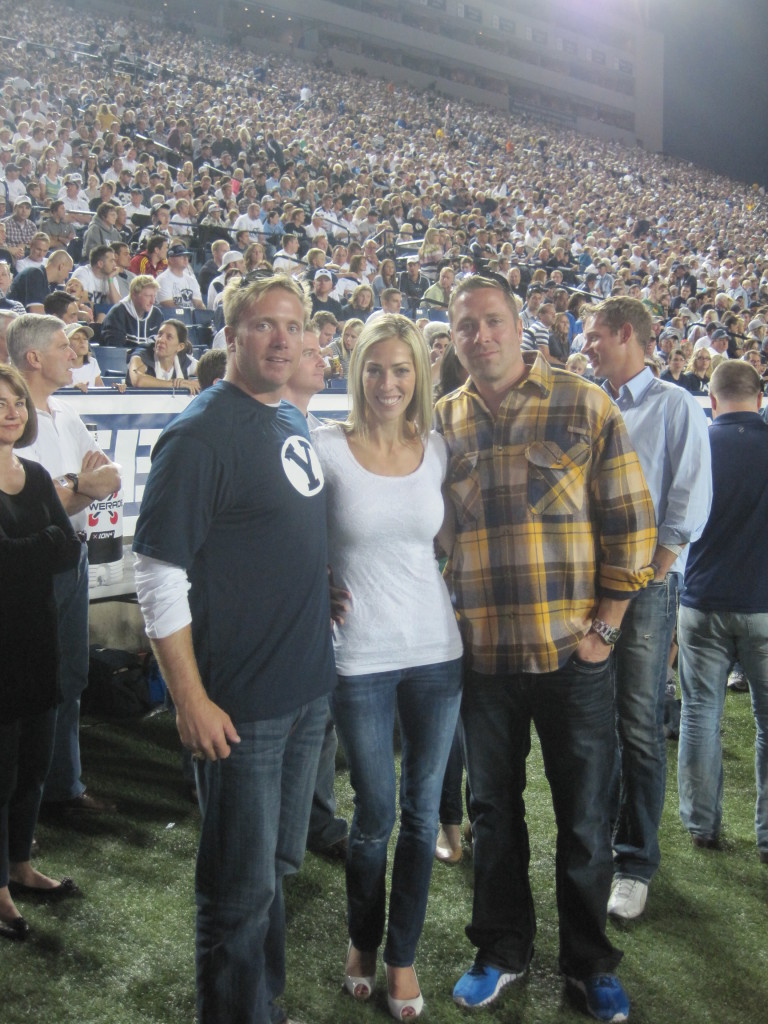 Jason, me and my cousin Johnny at the BYU Hall of Fame Event. October 2012, a few months before we started dating.