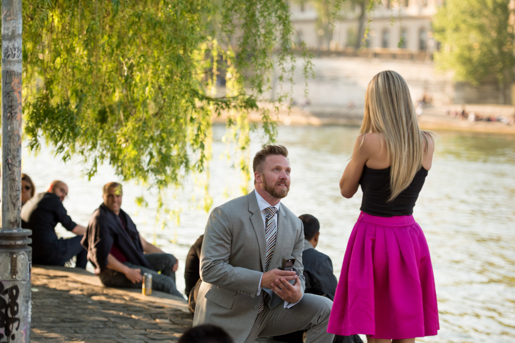 Jason proposing in Paris